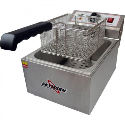 Fritadeira Elétrica Inox 1 Cuba 5L - FE-10-N - Skymsen