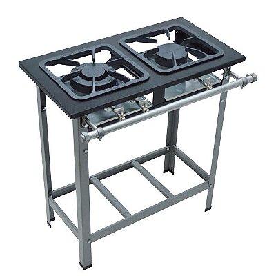 Fogão Industrial Baixa Pressão 2 bocas sem forno - Linha S2000 30x30 M6 - Metalmaq