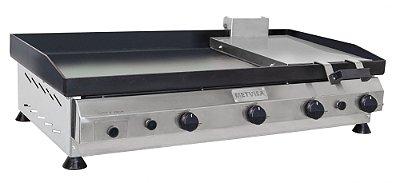Chapa para Lanches com Prensa  em Aço Inox 1m - CFGP-10 - Metvisa