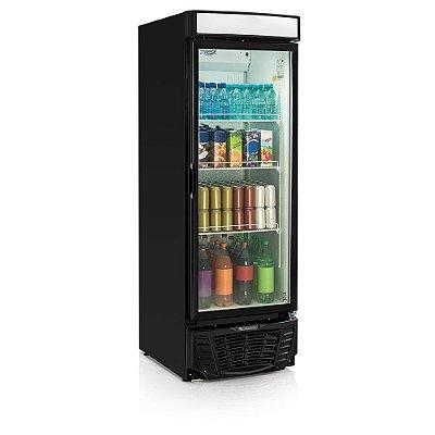 Refrigerador de bebidas conveniência linha Esmeralda preto vertical porta de vidro 572 litros - GLDR-570PR - Gelopar