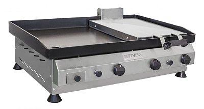 Chapa para Lanches com Prensa em Aço Inox 80cm CFGP-080 Metvisa