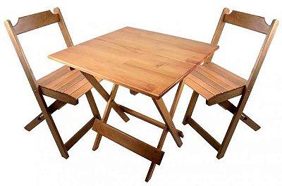 Mesa Dobrável 70X70M SMSC-70 COR MEL COM QUATRO CADEIRAS - Só mesas Só Cadeiras