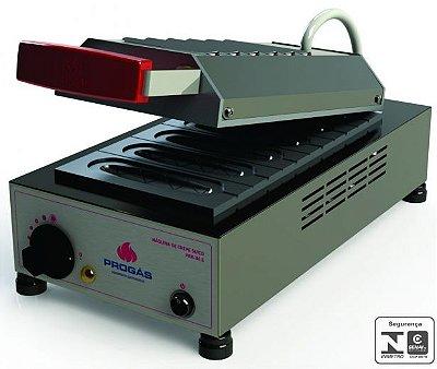 Máquina de crepes suíço elétrica com 6 cavidades - PRK06 - Progás