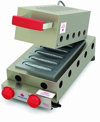 Máquina de crepes suíço a gás 6 cavidades - PRK60G - Progás