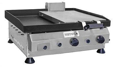 Chapa para Lanches com Prensa em Aço Inox 60cm CFGP-62 Metvisa