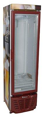 Cervejeira 230 litros Porta Vidro - Sibéria Vermelha - Refrigerador de bebidas  GRBA-230 VM PVA Gelopar