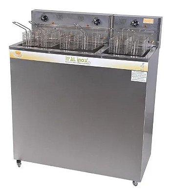 Fritadeira Industrial Elétrica Água e Óleo 36/18 litros Conjugado - Ital Inox