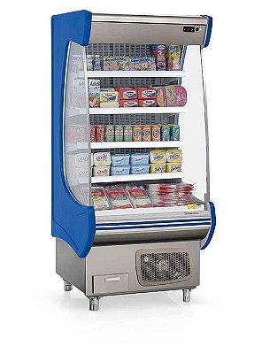 Refrigerador Vertical Aberto para Bebidas, Frios e Laticínios GSTO-090 AZ