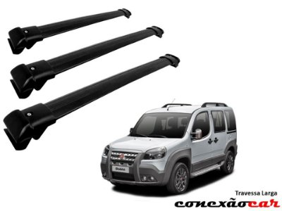 Travessa de Teto Larga Doblo 3 Barras Heavy Car