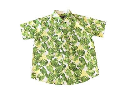 Camisa Social Floral - verde