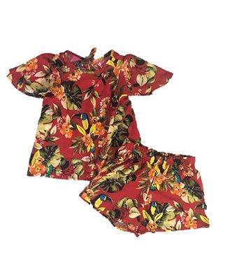 Conjuntinho Tucano - vermelho