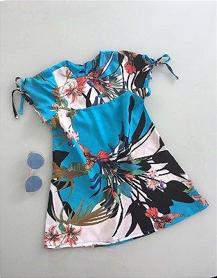 Vestidinho Floral Azul