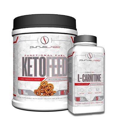 Combo Proteína Isolada Ketofeed 600g + L-Carnitina 100 cápsulas