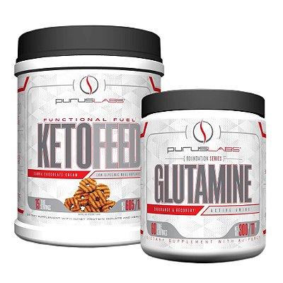 Combo Proteína Isolada Ketofeed 600g + Glutamina