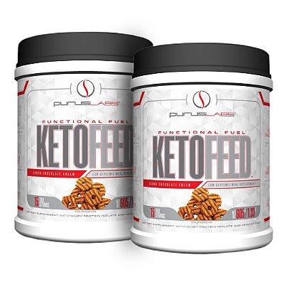 Combo 2 Proteínas Isoladas Ketofeed samoa chocolate