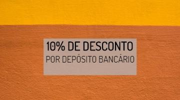 10% desconto por depósito bancário