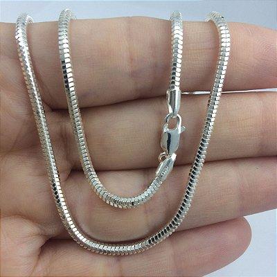 corrente rabo de rato diamantada 2,5mm