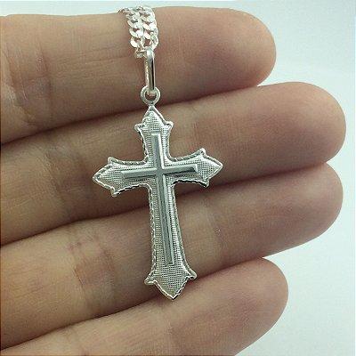 pingente cruz medieval 2520 1,90cm x 3,80cm