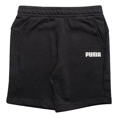 SHORTS MOLETOM PUMA SWEAT 10 PRETO