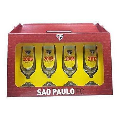 KIT 4 TAÇAS CERVEJA 300 ML SÃO PAULO