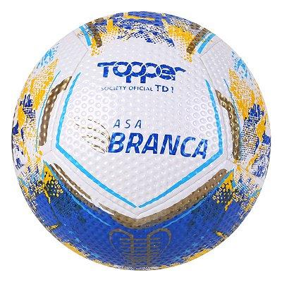 BOLA SOCIETY TOPPER ASA BRANCA AZUL/AMARELO