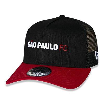 BONÉ NEW ERA SÃO PAULO TRUCKER PRETO