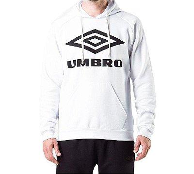 BLUSA MOLETOM UMBRO TWR LOGO BRANCO/PRETO