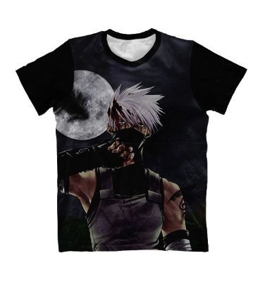 Camiseta Kakashi Hatate Lua - Naruto