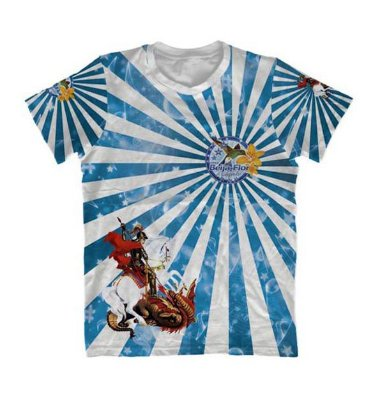 Camiseta São Jorge Beija Flor