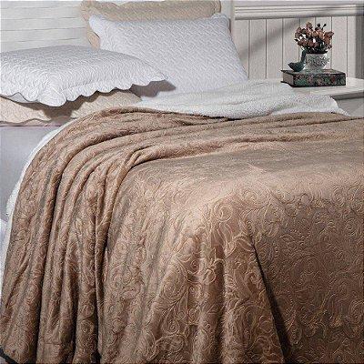 Cobertor Soft Flanel Queen Sherpa Vermot Bronze