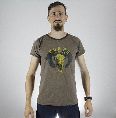 Camiseta Slim Fortù Elemento Marrom