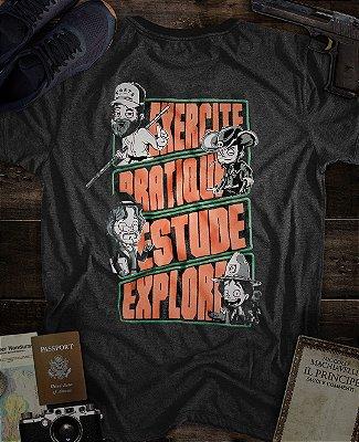 Camiseta Slim Fortù Exercite Mescla
