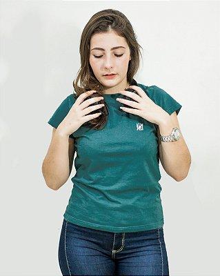 Camiseta Slim Feminina Azul