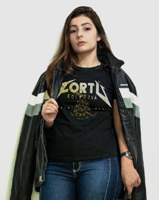 [Edição limitada Dia Mundial do Rock®] Camiseta Regular Fortù Feminina Metallica