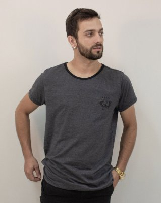 Camiseta Mescla Slim Logo Fóssil®
