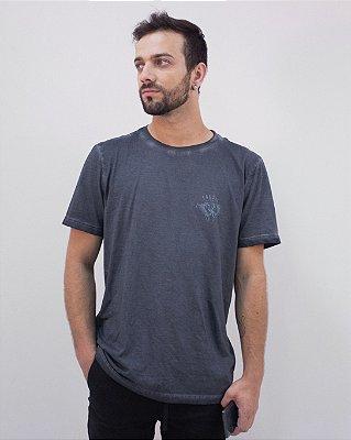 Camiseta Marinho Regular Logo Fóssil®