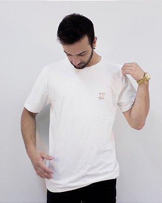 Camiseta Branca Regular Júlio Lobo Fóssil®
