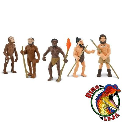 CONJUNTO EVOLUÇÃO HUMANA SAFARI LTD. RÉPLICA DE HOMINÍDEOS PRÉ-HISTÓRICOS FIGURAS EDUCATIVAS
