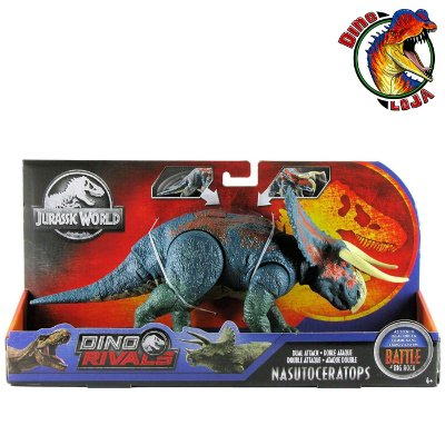 NASUTOCERATOPS MATTEL DINO RIVALS JURASSIC WORLD BATTLE AT BIG ROCK