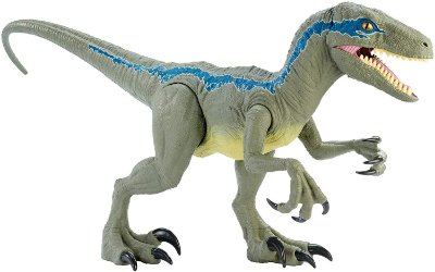 BLUE VELOCIRAPTOR COLOSSAL - 1 METRO - JURASSIC WORLD FALLEN KINGDOM MATTEL