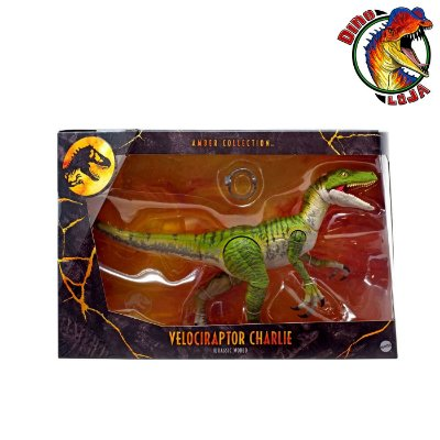 VELOCIRAPTOR CHARLIE AMBER COLLECTION JURASSIC WORLD MATTEL
