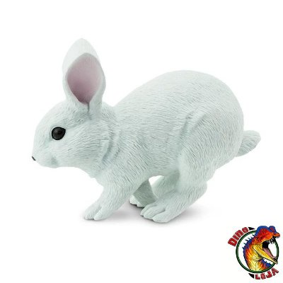 COELHO BRANCO SAFARI LTD INCREDIBLE CREATURES MINIATURA DE ANIMAL SELVAGEM
