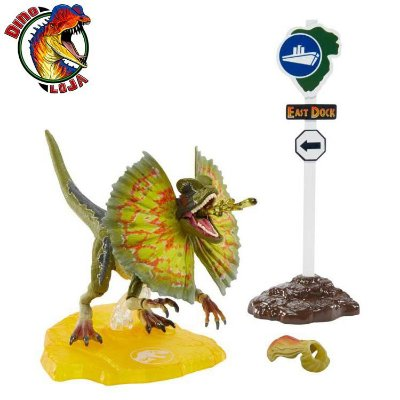 DILOPHOSAURUS AMBER COLLECTION JURASSIC WORLD MATTEL JURASSIC PARK