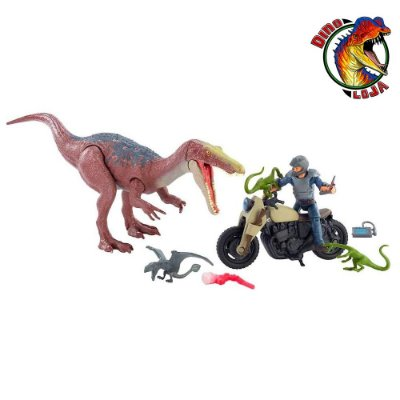 FUGA FINAL DO BARYONYX MATTEL JURASSIC WORLD REINO AMEAÇADO BATTLE DAMAGE