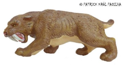 SMILODON MISSING LINKS SAFARI LTD RARIDADE TIGRE DENTES DE SABRE ERA DO GELO