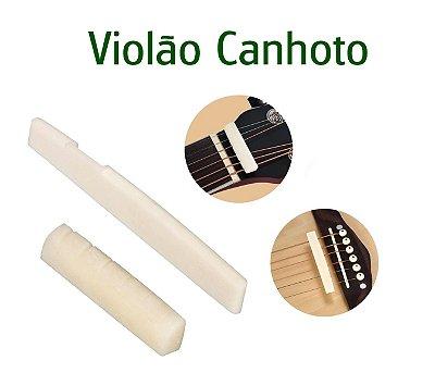 Rastilho e Nut de OSSO 100% Natural Para Violão Aço Canhoto