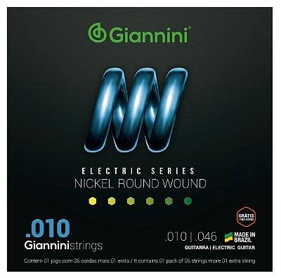 Encordoamento Cordas Para Guitarra Níquel 010 0.10 Giannini