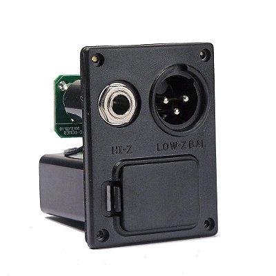 Caixa de bateria para Preamp com saída XLR e P10