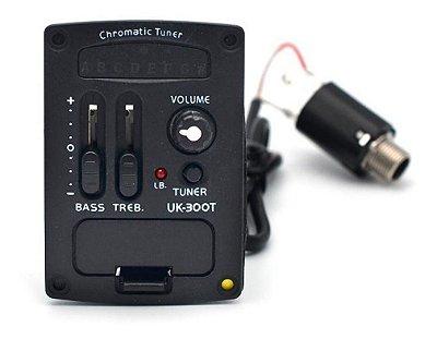 Captador + Equalizador 4 Bandas - UK-300T p/ Violão