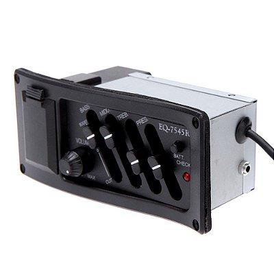 Captador E Equalizador Para Violão Completo - Eq7545r